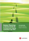 Estate Planning: A Practical Guide for Professionals Helping Australians Age Well, 5th edition cover