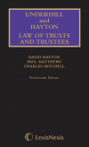 Underhill and Hayton Law of Trusts and Trustees, Main & Supplement Set (19th Ed)  cover