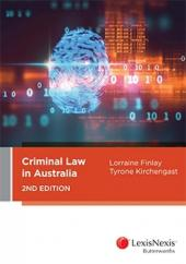 Criminal Law in Australia, 2nd Ed (eBook) cover