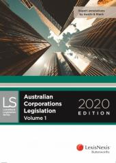Australian Corporations Legislation 2020 (eBook) cover