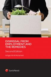 Dismissal from Employment and the Remedies, Second Edition (eBook) cover