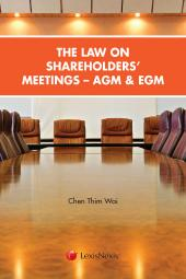 The Law on Shareholders' Meetings - AGM and EGM cover