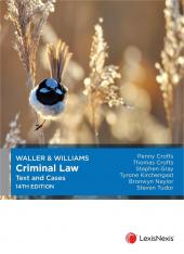 Waller & Williams Criminal Law Text and Cases, 14th edition (eBook) cover