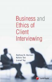 Business and Ethics of Client Interviewing (eBook) cover