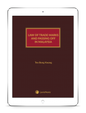 Law of Trade Marks and Passing Off in Malaysia (eBook) cover