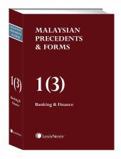 Malaysian Precedents & Forms - Vol 1(3) - Banking & Finance              cover