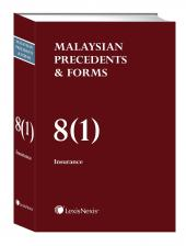 Malaysian Precedents & Forms - Vol 8(1) & 8(2) - Insurance cover