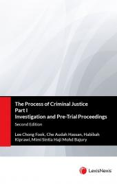 The Process of Criminal Justice Part I Investigation and Pre-Trial Proceedings cover