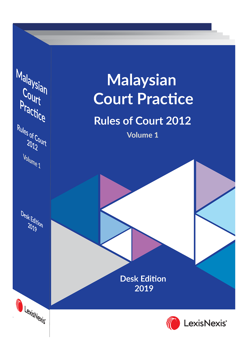 Malaysian Court Practice Rules Of Court 2012 Desk Edition 2019 2 Volumes Lexisnexis Malaysia Store