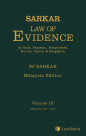 Sarkar Law of Evidence, Malaysia Edition - 3 Vols Softcover cover